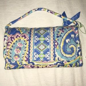 Vera Bradley Capri Blue Wallet with Strap NWT